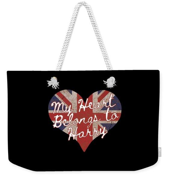 My Heart Belongs To Prince Harry Weekender Tote Bag