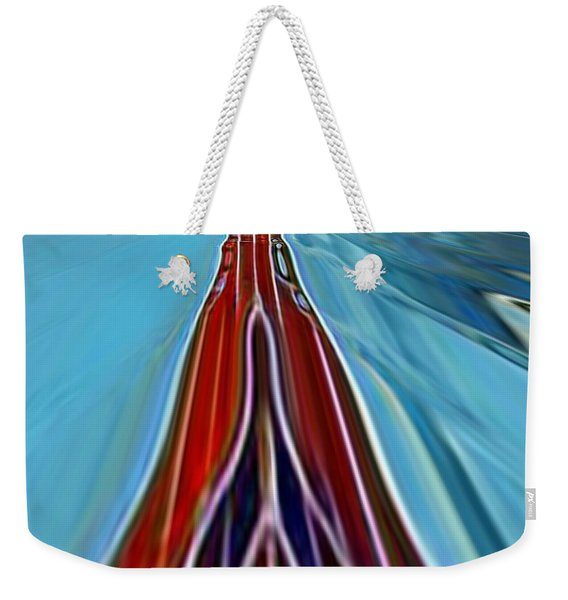 Weekender Tote Bag featuring the painting My Way by A zakaria Mami