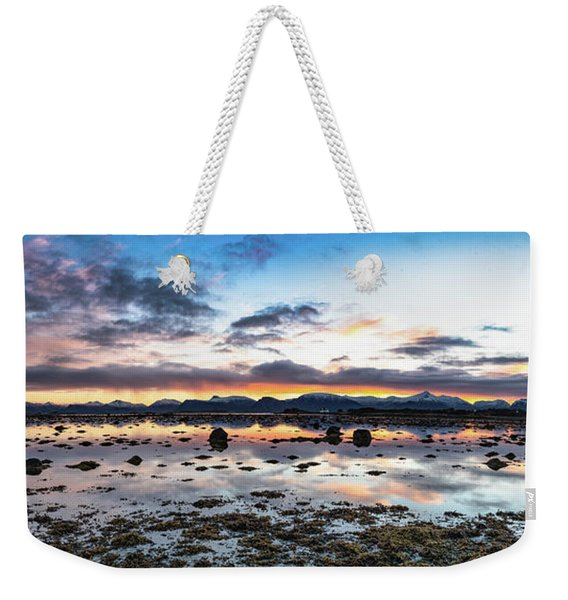 Myre Swapm Walkway On Vesteralen Norway Weekender Tote Bag