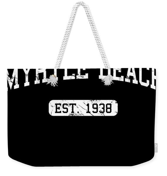 Weekender Tote Bag featuring the digital art Myrtle Beach by Flippin Sweet Gear