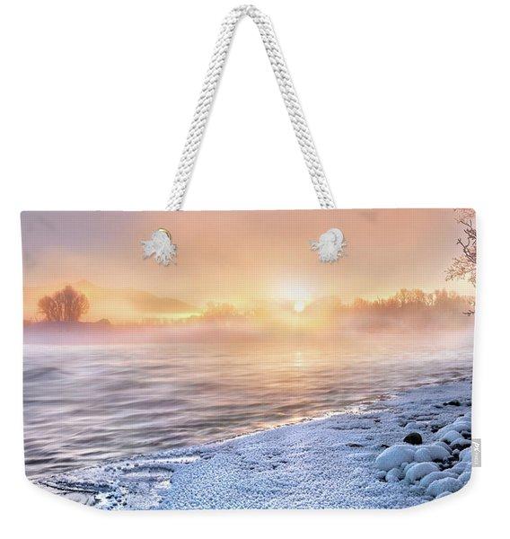 Mystical Winter Morning Weekender Tote Bag