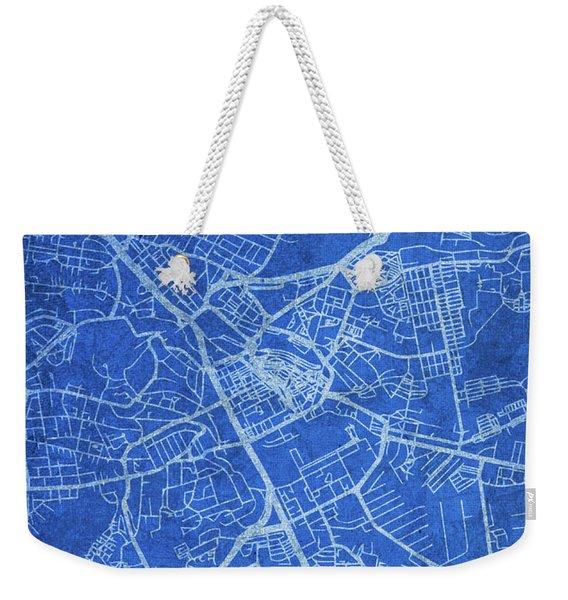 Nairobi Kenya City Street Map Blueprints Weekender Tote Bag