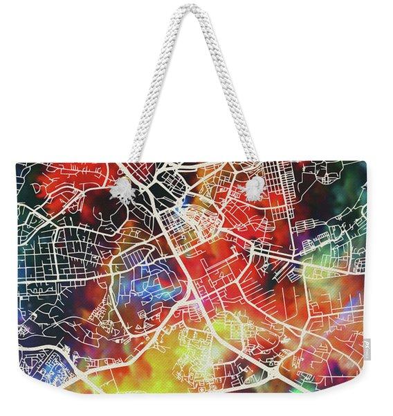 Nairobi Kenya Watercolor City Street Map Weekender Tote Bag