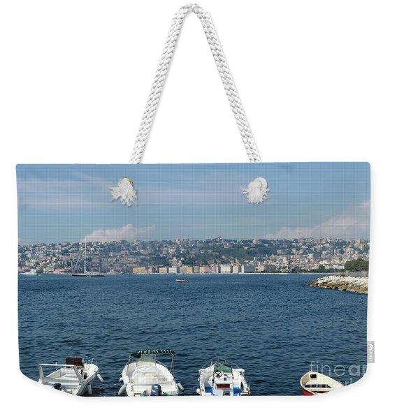 Naples Port Weekender Tote Bag