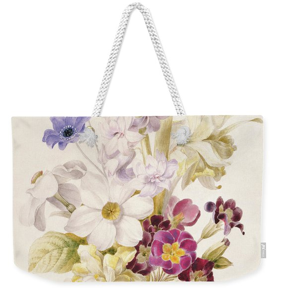 Narcissus And Other Flowers, 1840 Weekender Tote Bag