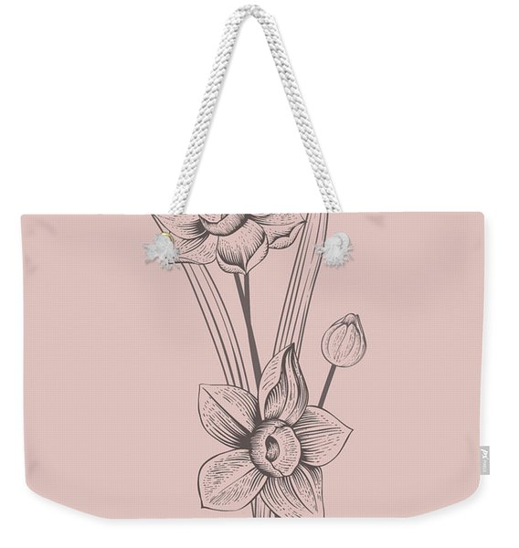 Narcissus Blush Pink Flower Weekender Tote Bag