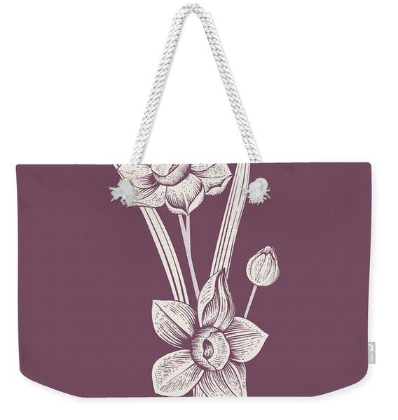 Narcissus Purple Flower Weekender Tote Bag