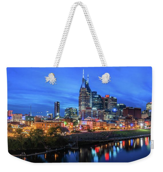 Nashville Night Weekender Tote Bag