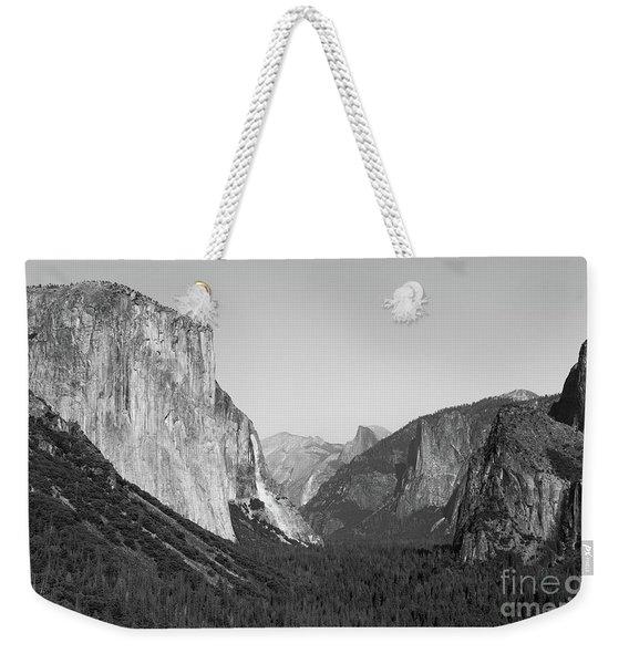 Nature At Its Best - Black-white Weekender Tote Bag
