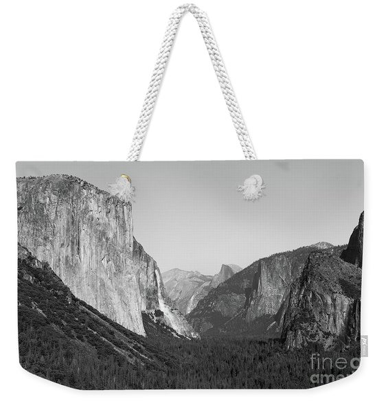 Weekender Tote Bag featuring the photograph Nature At Its Best - Black-white by Dheeraj Mutha