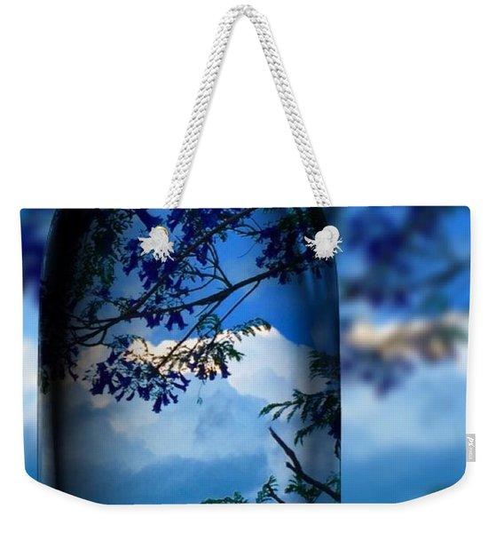 Nature Through Bottle  Weekender Tote Bag