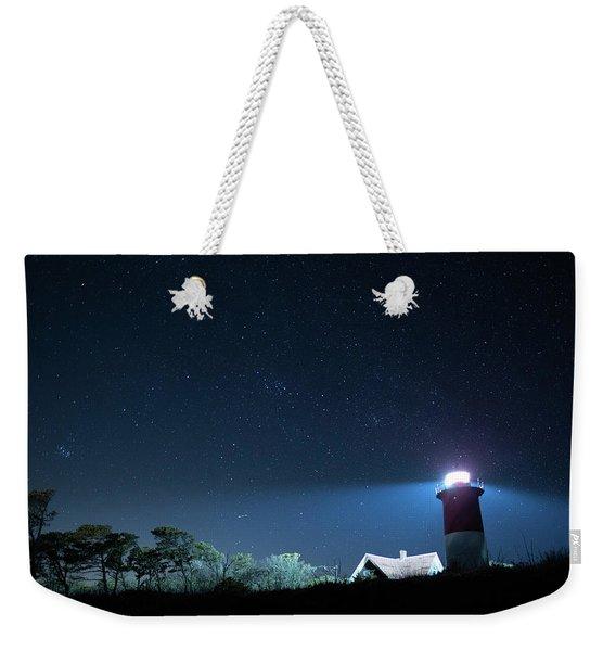 Nauset Light Under The Stars Weekender Tote Bag
