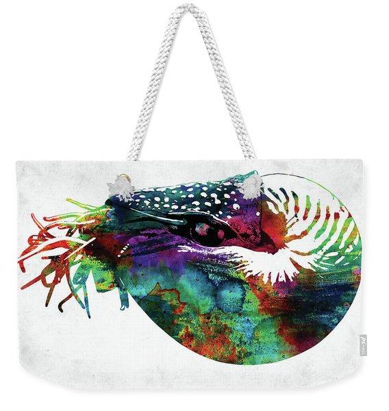 Nautilus Colorful Watercolor Art Weekender Tote Bag