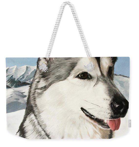 Nayuk Alaska Malamute Weekender Tote Bag