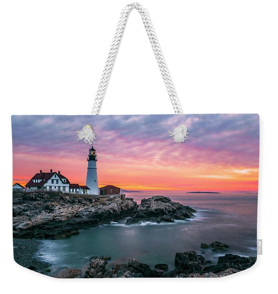 Near The End Of Shift Weekender Tote Bag
