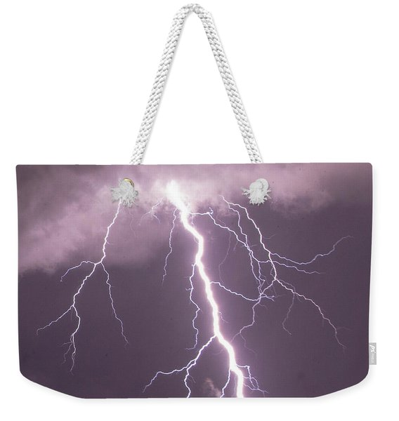 Weekender Tote Bag featuring the photograph Nebraska Arcus And Lightning 046 by NebraskaSC