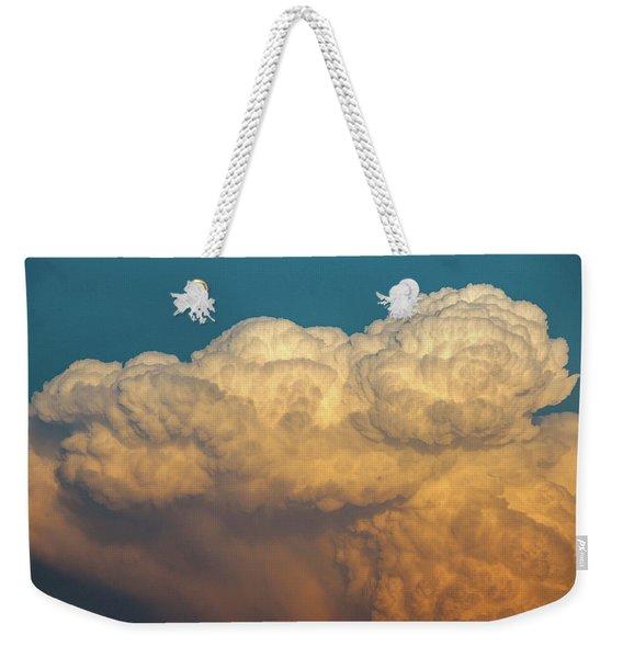 Weekender Tote Bag featuring the photograph Nebraska Sunset Thunderheads 053 by NebraskaSC