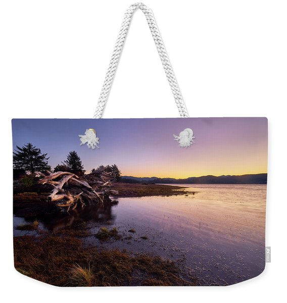 Weekender Tote Bag featuring the photograph Nehalem Bay Sunrise by Whitney Goodey