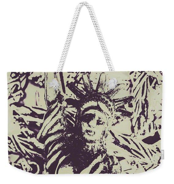 Neoclassical Lady Landmark Weekender Tote Bag