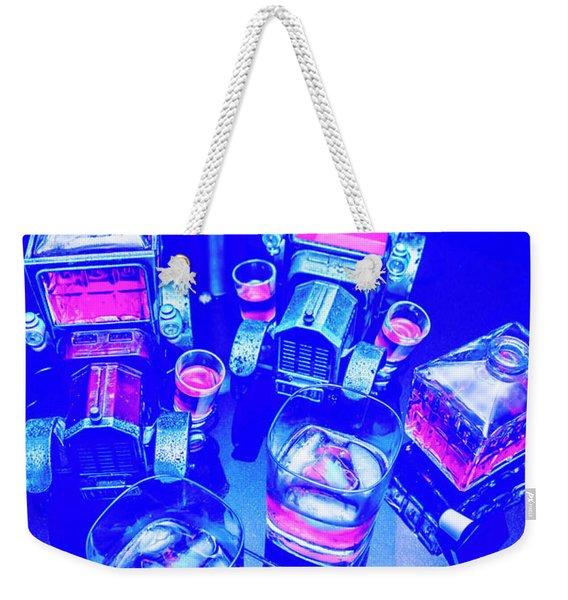 Neon Bar Weekender Tote Bag