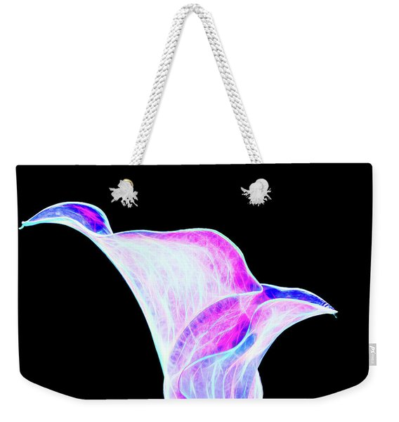 Weekender Tote Bag featuring the digital art Neon Calla Lily by Scott Lyons