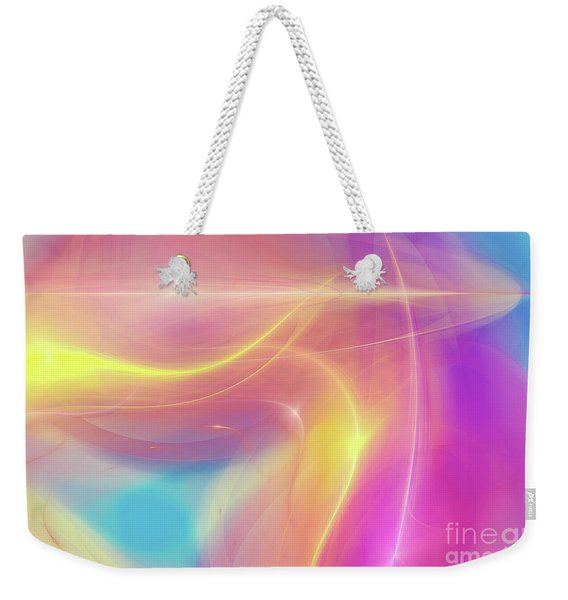 Neon Light  Cosmic Rays Weekender Tote Bag