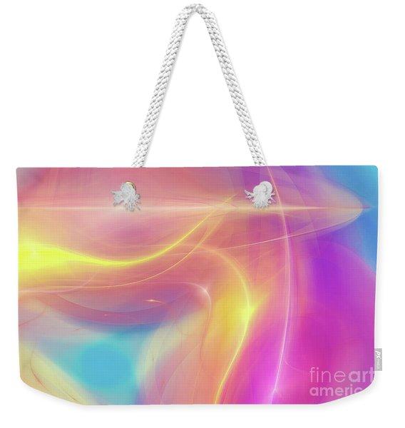Neon Light  Cosmic Rays Weekender Tote Bag