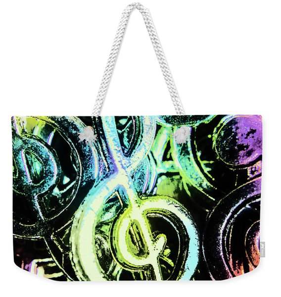 Neon Notes Weekender Tote Bag
