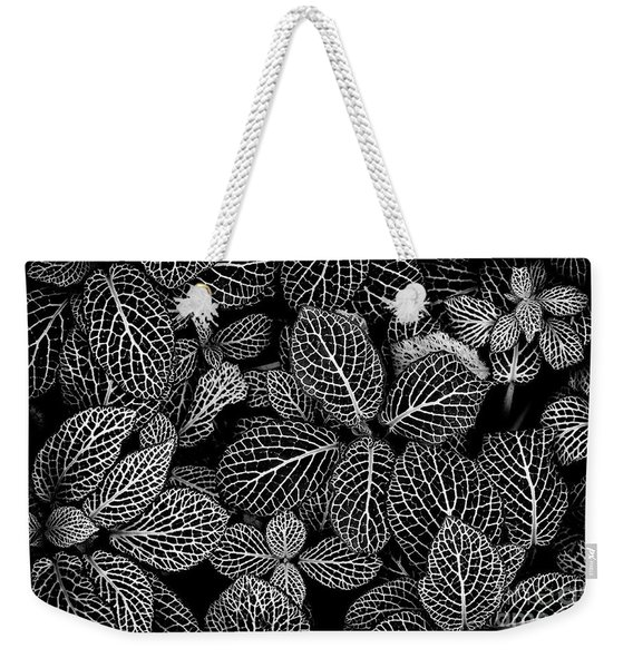 Nerve Plant Leaves Pattern Weekender Tote Bag