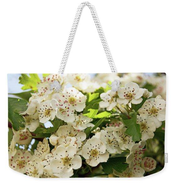 Neston.  Hawthorn Blossom. Weekender Tote Bag