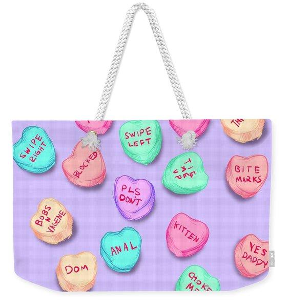 New Convo Hearts Weekender Tote Bag