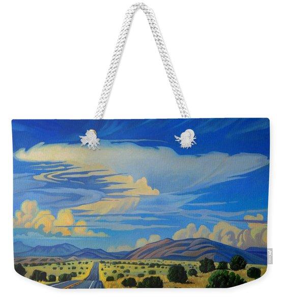 New Mexico Cloud Patterns Weekender Tote Bag