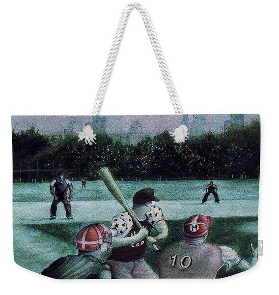 New York Central Park Baseball - Watercolor Art Painting Weekender Tote Bag