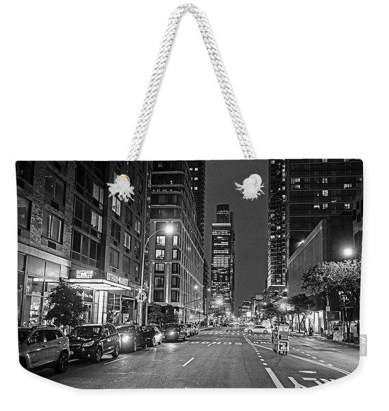 New York City Gotham West Market New York Ny Black And White Weekender Tote Bag