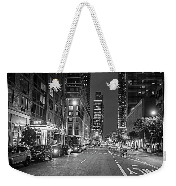 New York City Gotham West Market New York Ny Black And White Weekender Tote Bag