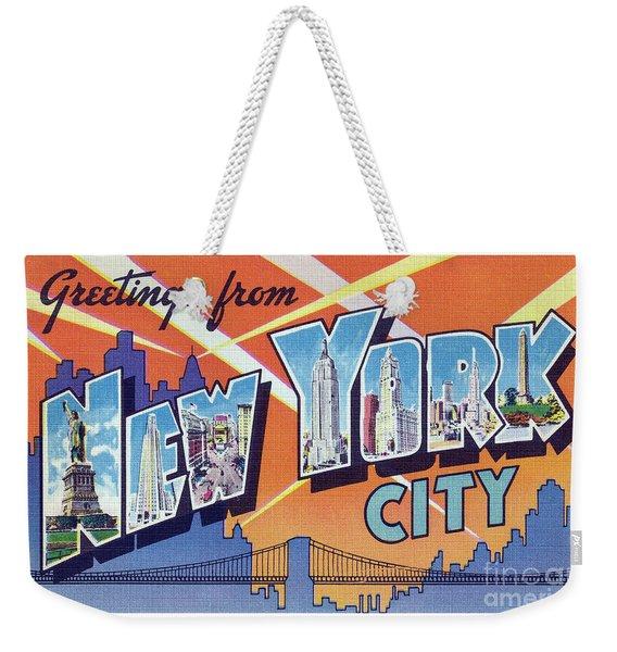 New York City Greetings - Version 2 Weekender Tote Bag