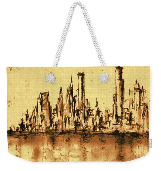 New York City Skyline 79 - Water Color Drawing Weekender Tote Bag