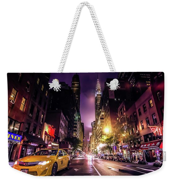 New York City Street Weekender Tote Bag