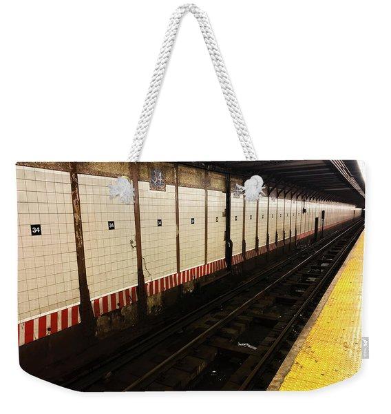 New York City Subway Line Weekender Tote Bag