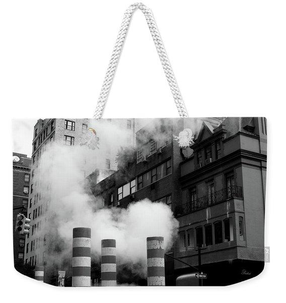 New York, Steam Weekender Tote Bag