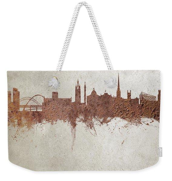 Newcastle England Rust Skyline Weekender Tote Bag