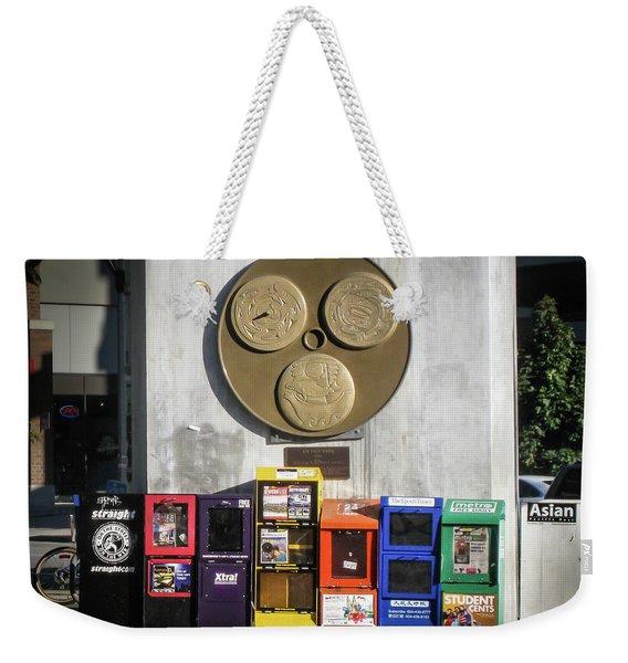 Newsstands At Gilmore Weekender Tote Bag