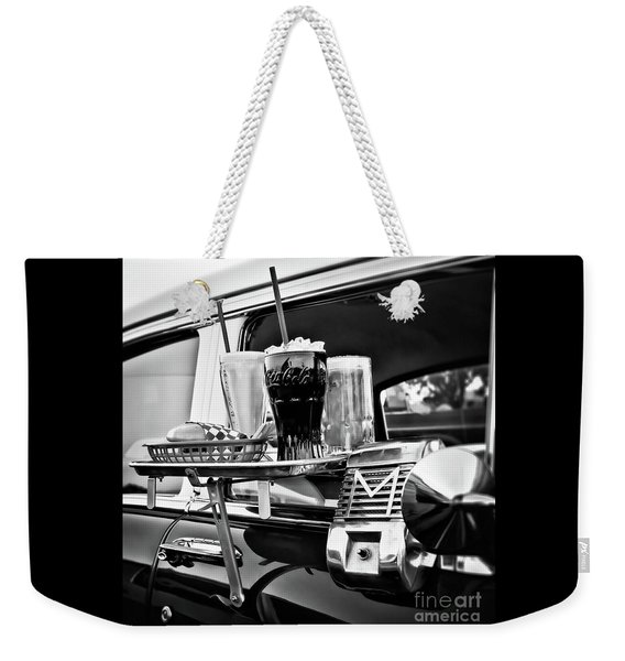 Night At The Drive-in Movies Weekender Tote Bag