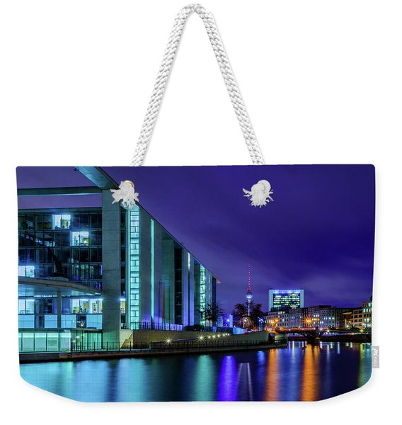 Weekender Tote Bag featuring the photograph Night In Berlin by Dmytro Korol