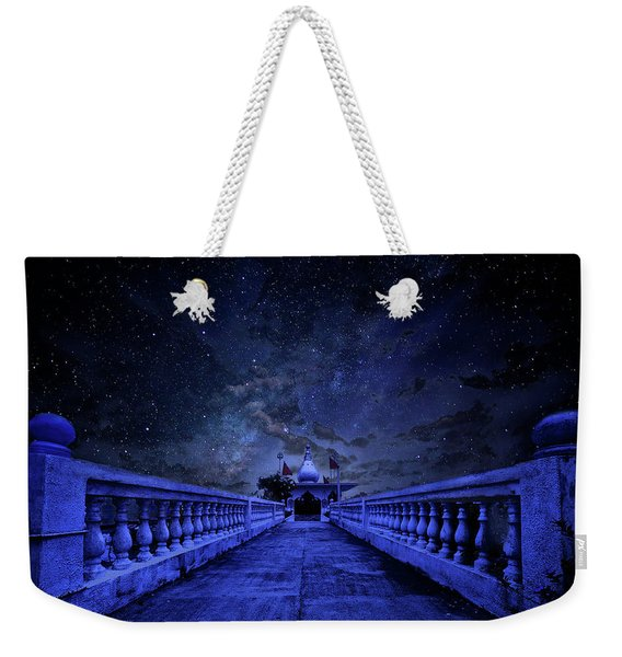 Night Sky Over The Temple Weekender Tote Bag