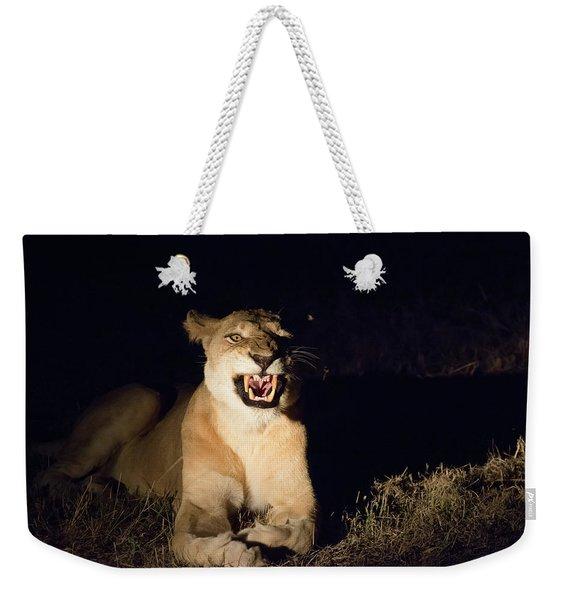 Nightmare Lioness Weekender Tote Bag