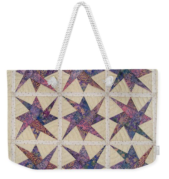 Nine Stars Dipping Their Toes In The Sea Sending Ripples To The Shore Weekender Tote Bag