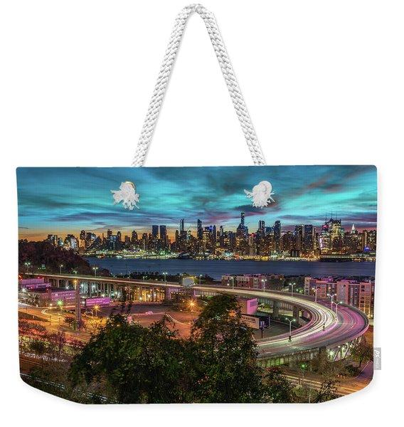 Nj And Ny Sunrise Weekender Tote Bag