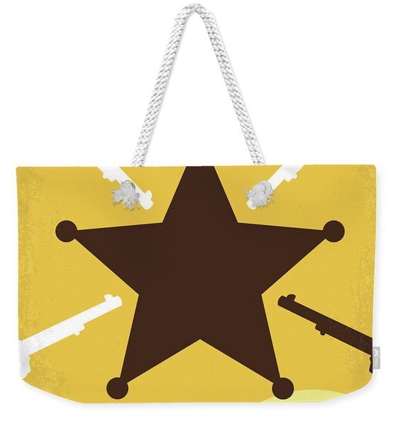 No1014 My Blazing Saddles Minimal Movie Poster Weekender Tote Bag