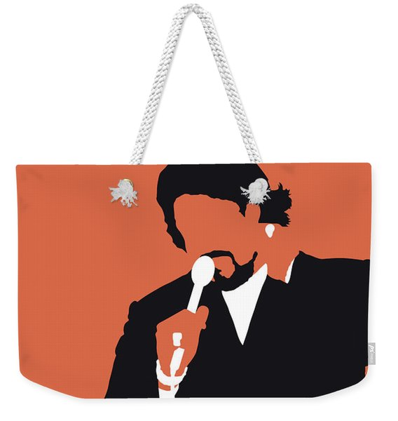 No263 My Barry White Minimal Music Poster Weekender Tote Bag